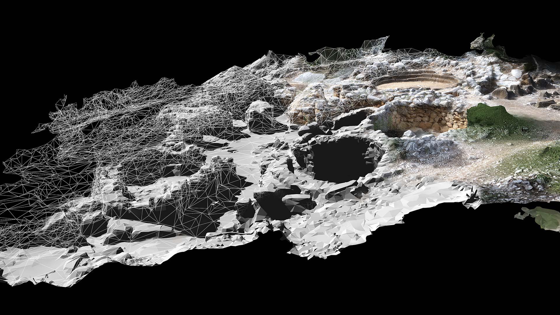 Archeologia virtuale - Sa Sedda 'e Sos Carros - Oliena (NU)