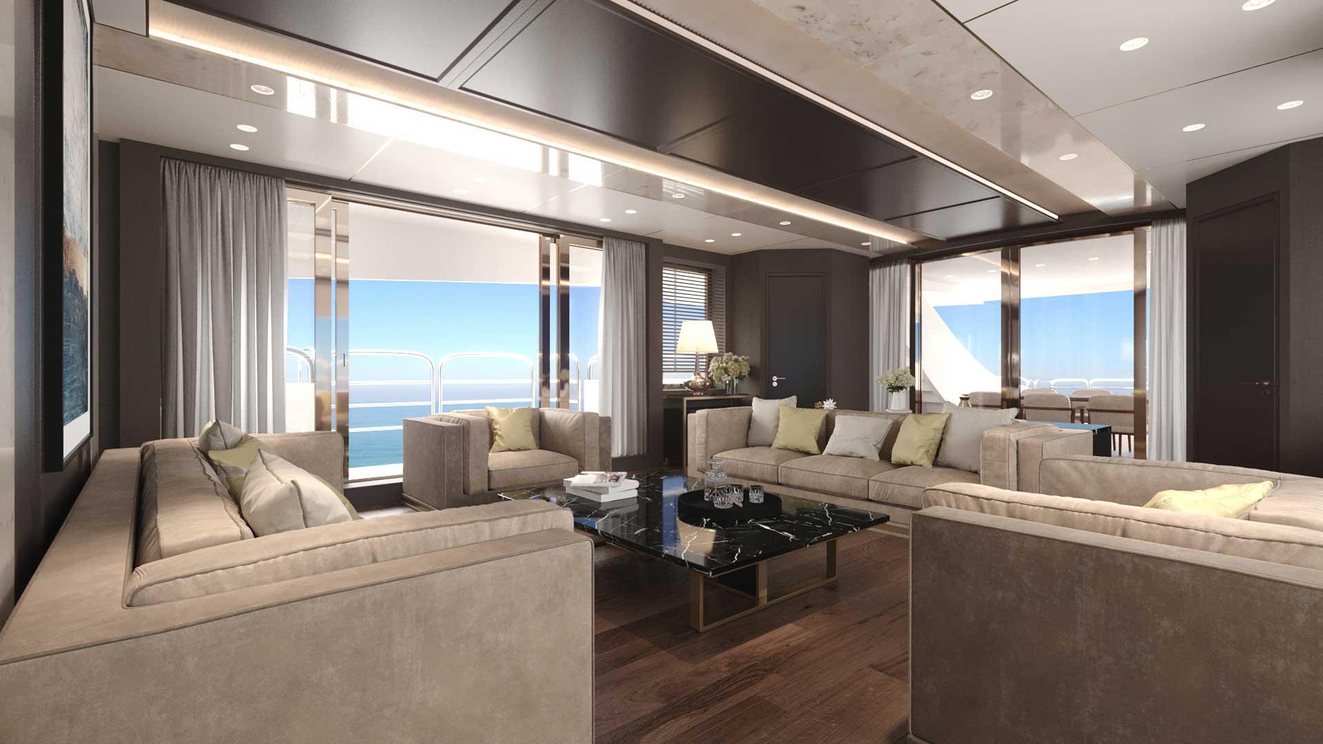 3D design nautico: interni virtuali yacht